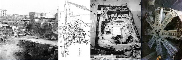 Việc xây dựng ga ngầm Termini (Rome ) đã phá huỷ các di sản trên và dưới mặt đất. Hố đào tại quảng trường Duomo trước nhà thờ Milan (Italy) bị rào kín