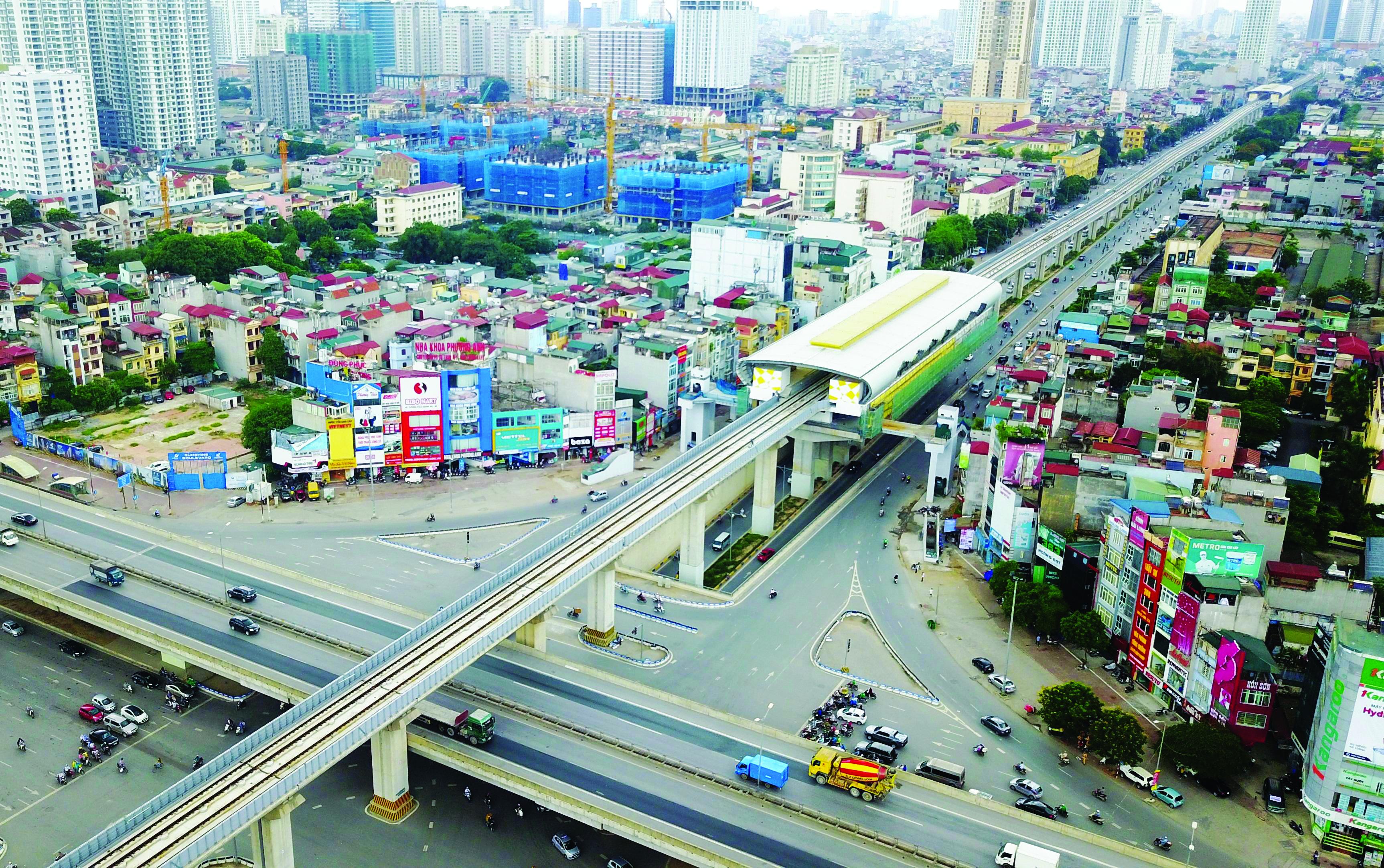 Tuyến đường sắt đô thị  Cát Linh - Hà Đông TP Hà Nội trong quá trình vận hành chạy thử