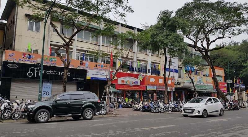 Khu đất 45B Lý Thường Kiệt rộng hơn 1.000 m2 sẽ xây trụ sở văn phòng Công ty CP sách và thiết bị trường học Hà Nội, với đề xuất cao tối đa 12 tầng