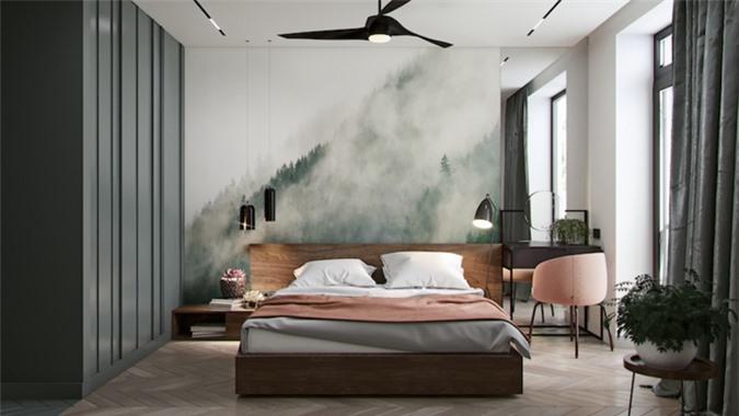 Dù chỉ có một phòng ngủ duy nhất nhưng nội thất bên trong vẫn được bố trí vô cùng tinh tế