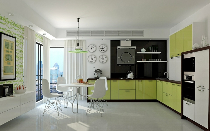 Kết hợp xanh lá cây và màu trắng làm cho căn nhà bạn trở nên sáng sủa hơn