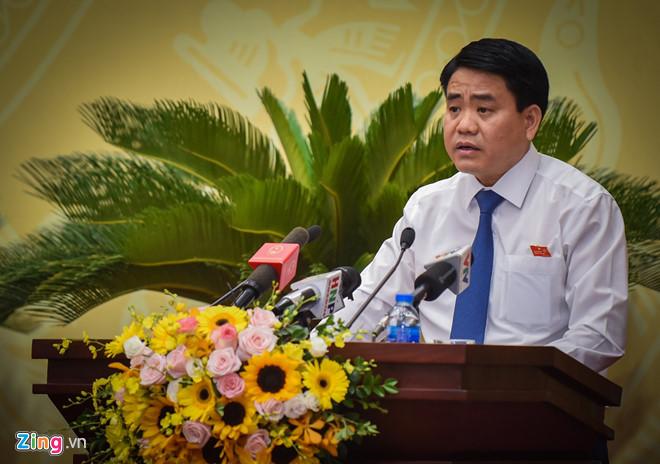 Chủ tịch UBND TP Hà Nội Nguyễn Đức Chung. Ảnh: Việt Linh.