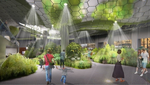 Công viên dưới lòng đất ở thủ đô Seoul dự kiến sẽ ngập tràn ánh sáng tự nhiên. Ảnh: Korea Times