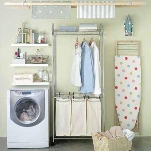 Một góc giặt là lý tưởng nên được chia thành các khu rõ ràng