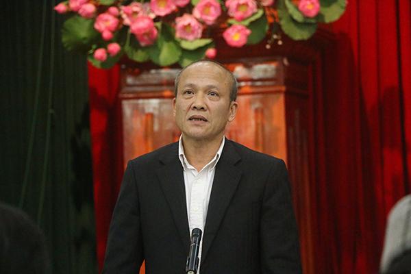 Ông Ngô Mạnh Tuấn phát biểu tại cuộc họp