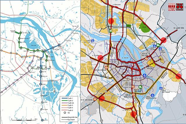 Sơ đồ mạng lưới đường sắt đô thị của HAIMUD2 tương tác thấp với các quy hoạch phát triển đô thị, bất động sản trong khi phương án tích hợp đường sắt đô thị và đường sắt quốc gia thể hiện rõ định hướng đó