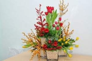 5 gợi ý bày hoa ngày Tết
