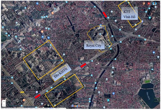 Hình 2. Vị trí các ga của tuyến số 2A