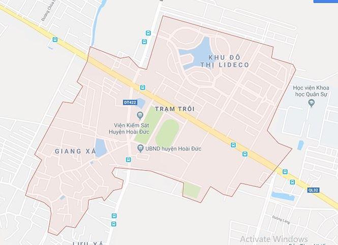 Đồ án quy hoạch trung tâm thị trấn Trạm Trôi có quy mô diện tích khoảng 112,3ha, với dân số từ 13.000 - 15.000 người