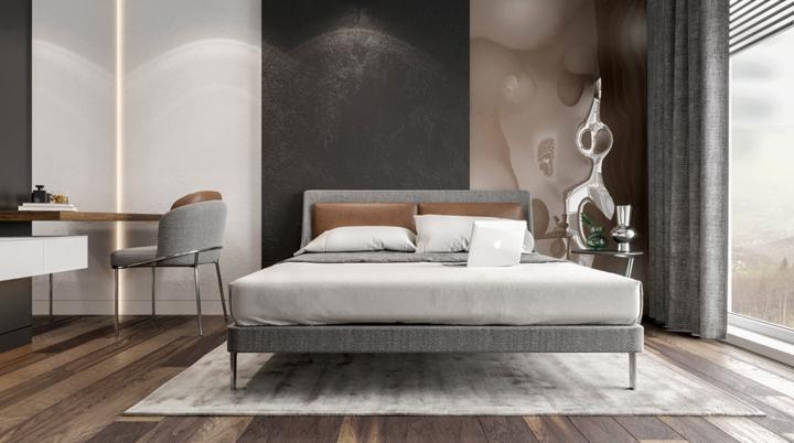 Nội thất phòng ngủ bố trí đơn giản, hợp lý để mang đến một nơi nghỉ ngơi rộng rãi và thoáng đãng