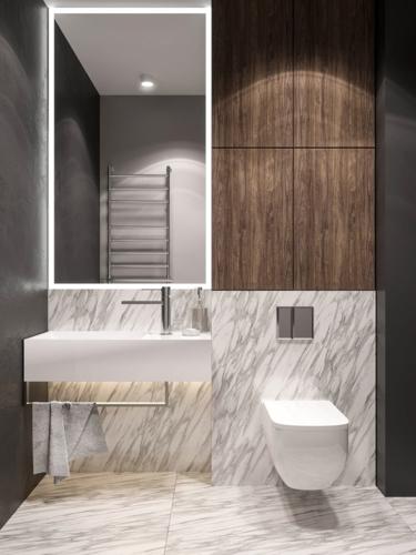 Các loại đèn nhấn và khuếch tán khiến phòng tắm không bị tối