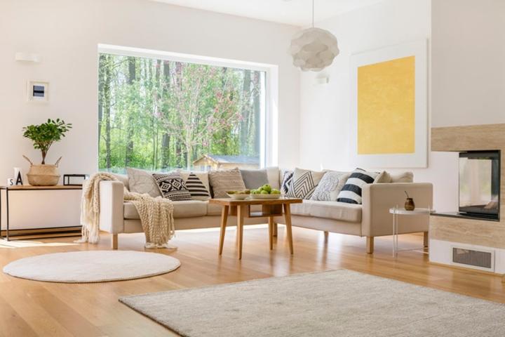 Màu xám: Không chỉ thích hợp trang trí nhà cửa trong mùa xuân mà với tông màu xám bạn còn có thể sử dụng cho cả 4 mùa trong năm vì đây là màu sắc dễ kết hợp với những tông màu khác