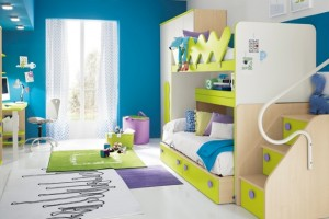 Trang trí phòng ngủ độc đáo cho trẻ bằng sự kết hợp màu sắc