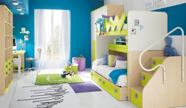 Chiếc giường tầng tiết kiệm tối đa không gian phòng ngủ