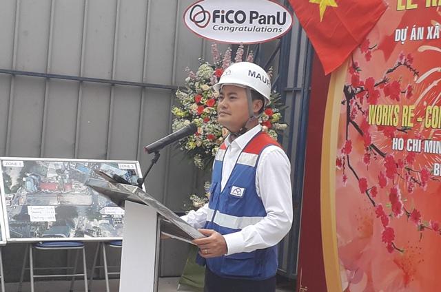 Trưởng Ban Quản lý đường sắt Bùi Xuân Cường nêu quyết tâm hoàn thành tuyến metro số 1 vào cuối năm 2020. Ảnh: H.V
