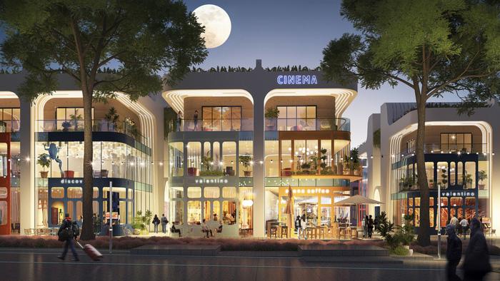 Mặt tiền của các shop villas rộng, phù hợp cho hoạt động kinh doanh