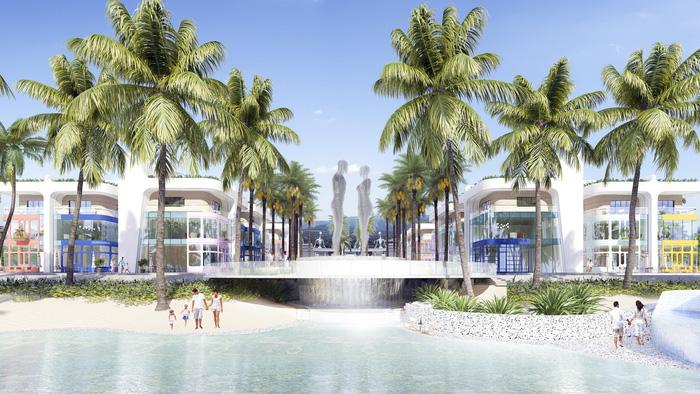 Khu vực Shop villas cũng nằm gần khu vực đặt bức tượng tình nhân Ali và Nino nổi tiếng được chủ đầu tư hợp tác với nghệ nhân nổi tiếng thế giới chế tác vừa đưa về dự án