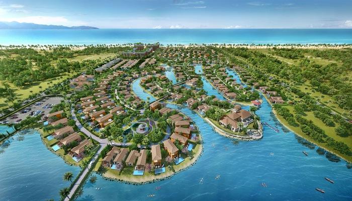 NovaBeach Cam Ranh với dãy biệt thự bao quanh bờ biển trải dài