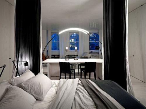 Vào ban đêm căn hộ trở nên cực kỳ quyến rũ và hấp dẫn