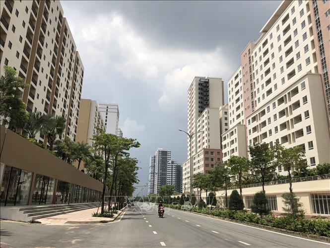 Một phần Khu tái định cư 12.500 căn tái định cư KĐTM Thủ Thiêm đã được chuyển đổi thành dự án nhà ở thương mại. Ảnh: Quang Nhựt/TTXVN