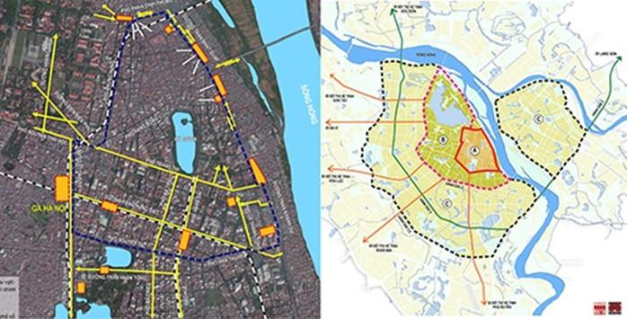 Bố trí bãi đỗ xe ngầm mâu thuẫn với phân vùng hạn chế phương tiện cơ giới vào trung tâm thành phố (Do liên doanh tư vấn nước ngoài đề xuất)