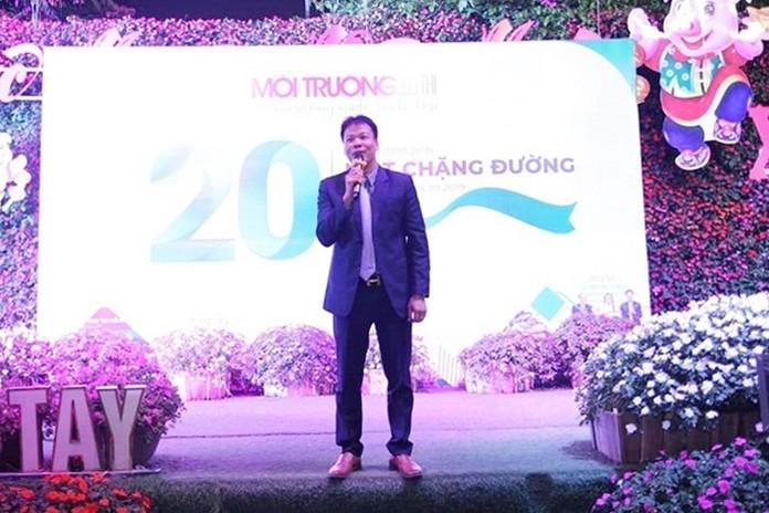 TS.LS Đồng Xuân Thụ, Tổng Biên tập Tạp chí Môi trường và Đô thị Việt Nam phát biểu tại buổi lễ