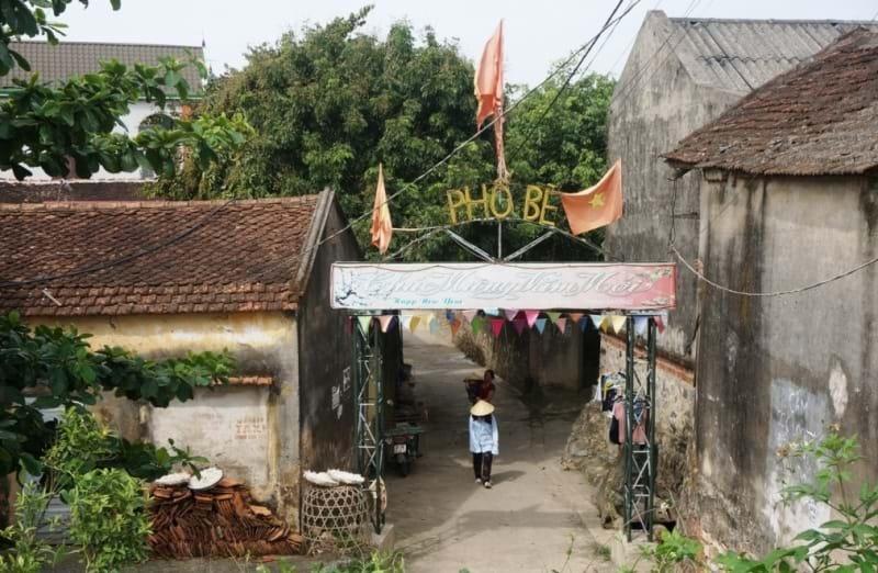 Phố Bè với cấu trúc độc đáo phố trong làng. Ảnh: TL