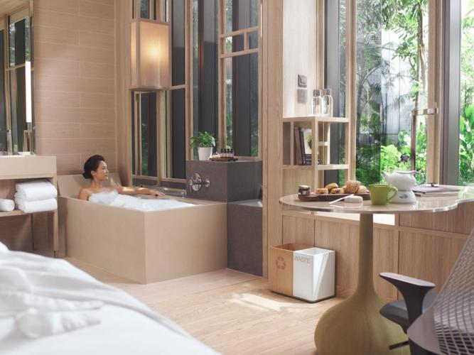 Phòng tắm gần gũi với tự nhiên