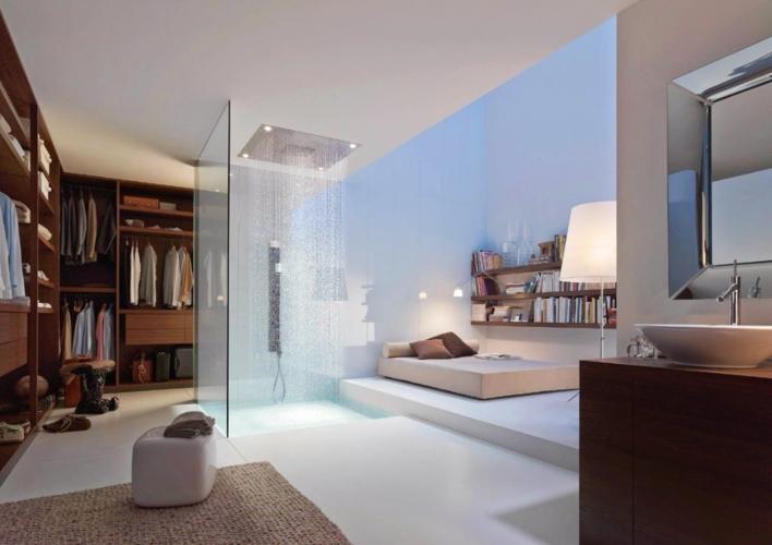 Phòng tắm trở thành một phần mở rộng của không gian sống trong nhà