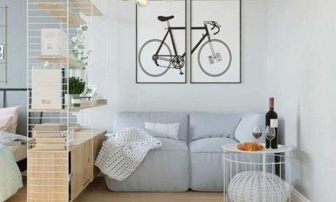 Hô biến căn hộ 33m2 thành không gian sống tiện nghi