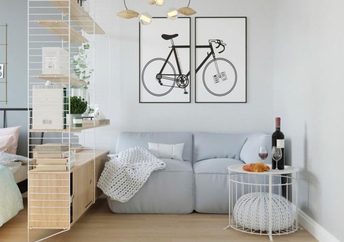 Sơn tường màu xám nhạt và sự kết hợp đơn giản của nội thất mang đến cho chủ nhân một nơi tiếp khách nhẹ nhàng, quyến rũ mang hương vị Pháp