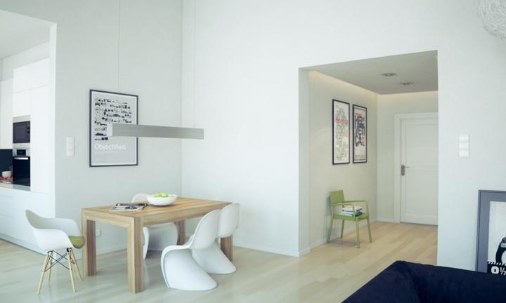 Kể cả phần góc hẹp trong nhà cũng có thể thành nơi ăn uống vui vẻ