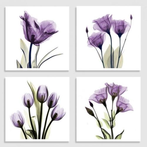 Nếu bạn đang tìm kiếm trang trí tường màu tím độc đáo cho phòng tắm, những bức tranh này dành cho bạn