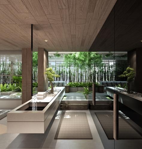 Phòng tắm mang phong cách của một spa