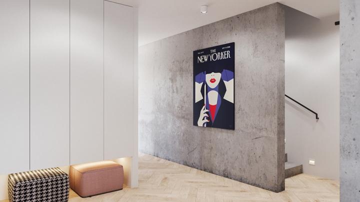 """Một bức tranh nghệ thuật """"đủ"""" để bức tường màu xám trở nên thú vị"""