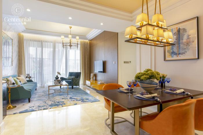 Thiết kế của các căn hộ tại Centennial đáp ứng các tiêu chuẩn khắt khe nhất