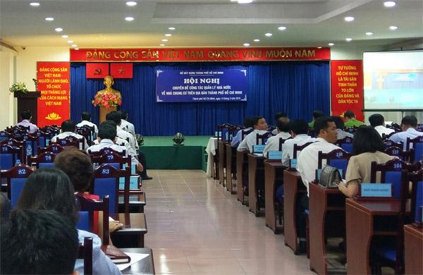 Hội nghị chuyên đề quản lý Nhà nước về nhà chung cư trên địa bàn TP Hồ Chí Minh. Ảnh: CN