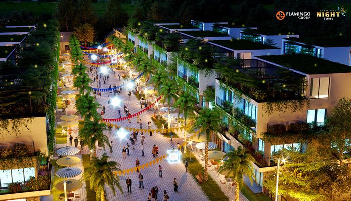 Flamingo Night Street sở hữu một vị trí đắc địa hiếm có, mang lại lợi thế đầu tư lâu dài