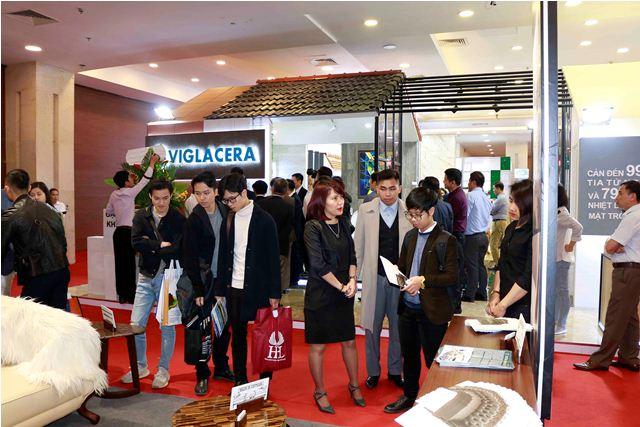 Triển lãm Quốc tế Xây dựng VIETBUILD Hà Nội 2019 lần 1 thu hút đông đảo khách tham quan