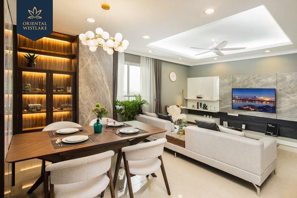 Oriental Westlake với phong cách thiết kế hiện đại và sang trọng cùng vị trí vàng sát Hồ Tây