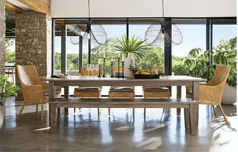 Phòng ăn cũng là không gian thú vị để sử dụng nội thất bằng mây