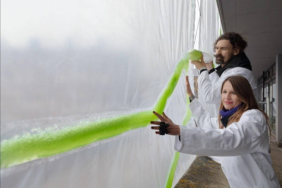 Dòng tảo xanh này sẽ hấp thụ khí thải và tạo thành khối tái chế nhựa