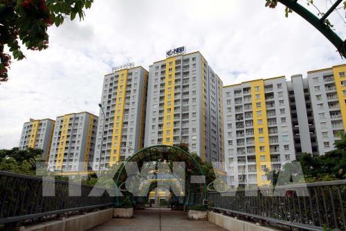 Chung cư Carina Plaza (Quận 8 – Thành phố Hồ Chí Minh) sau khi hoàn tất cải tạo, sửa chữa. Ảnh: Thanh Vũ - TTXVN