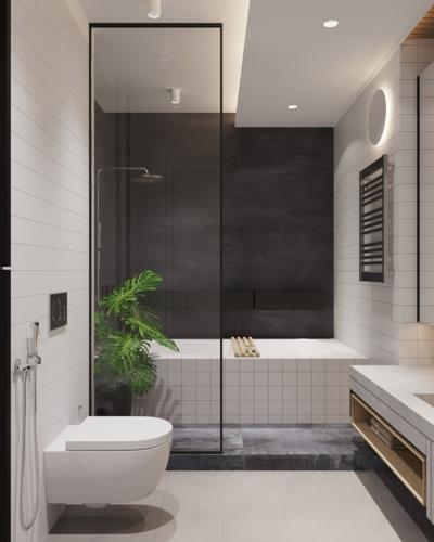 Cửa kính ngăn không cho nước làm ướt những khu vực khác trong phòng tắm