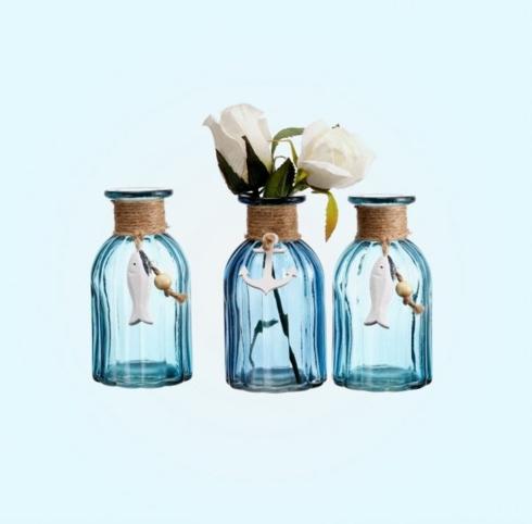 Bộ ba bình hoa mang chủ đề đại dương