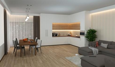 Lắp đặt tủ âm tường sẽ khiến bạn có cảm giác căn bếp dường như trong suốt hoặc chiếm rất ít không gian