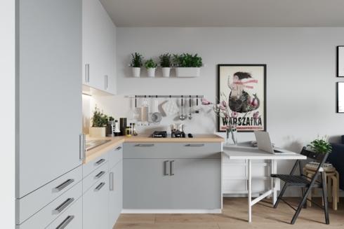 Cây xanh trong phòng sẽ truyền cảm hứng cho quá trình nấu nướng đồng thời còn có tác dụng khử mùi