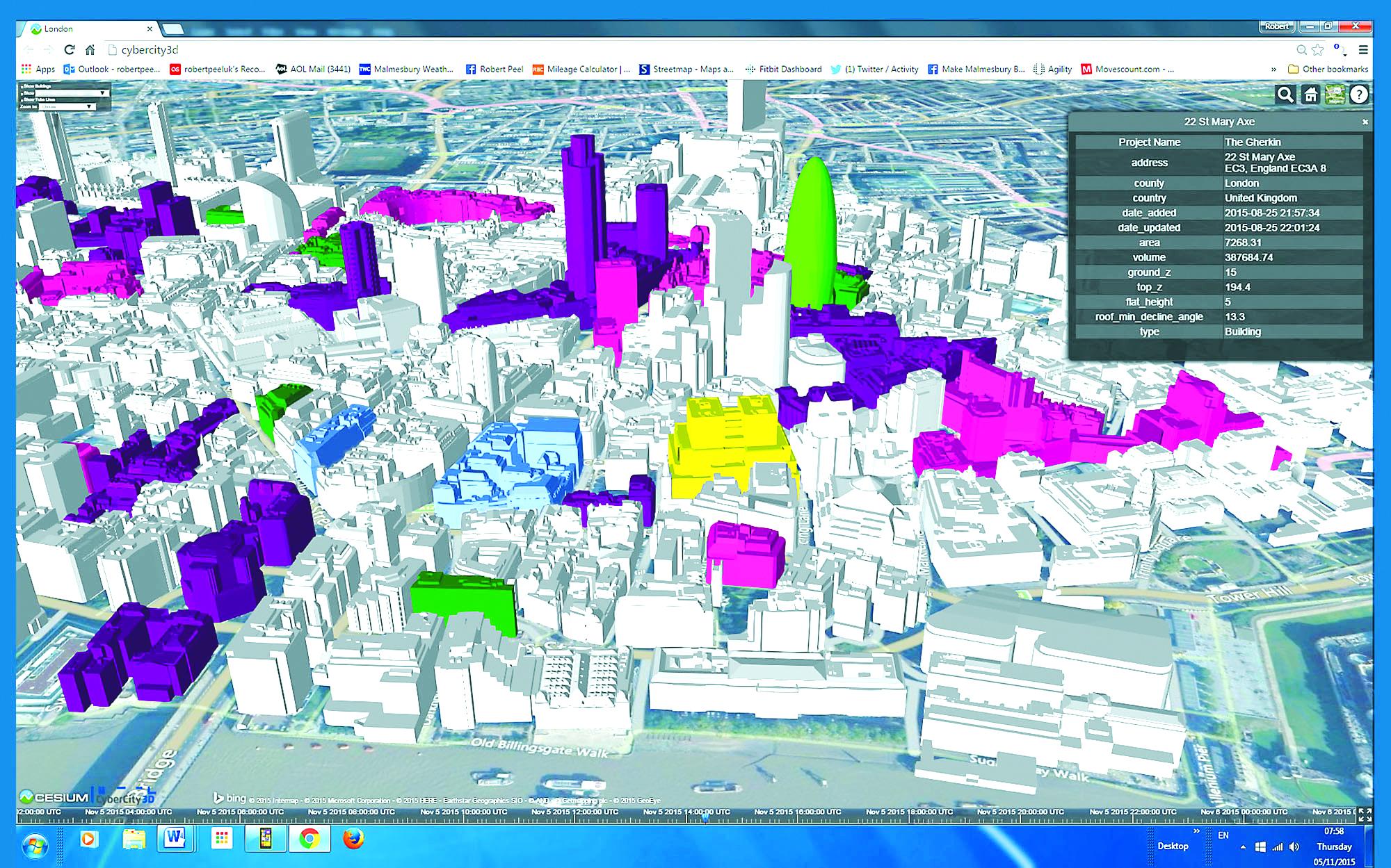 Ứng dụng công nghệ mô phỏng 3D trong quy hoạch quản lý đô thị và thiết kế kiến trúc công trình tại London (Anh)