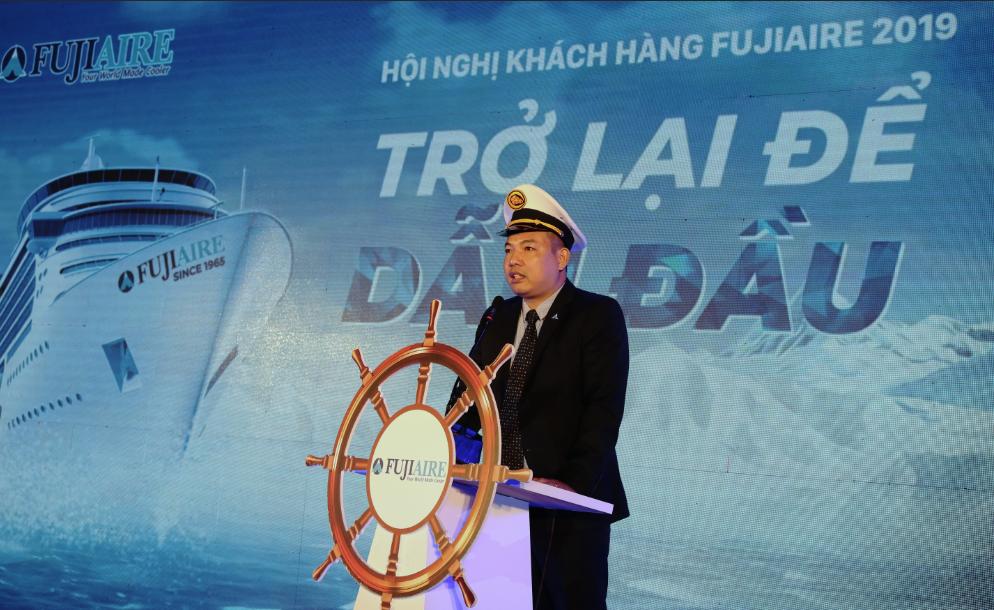 Ông Lê Thanh Tùng – Tổng Giám đốc Công ty TNHH Liên doanh Fujiaire Malaysia Việt Nam phát biểu chào mừng hội nghị.
