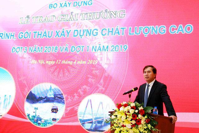Thứ trưởng Lê Quang Hùng - Chủ tịch Hội đồng xét thưởng phát biểu tại buổi lễ